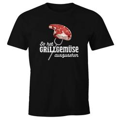 MoonWorks Print-Shirt Herren T-Shirt So hat Grillgemüse auszusehen Spruch lustig Grillen Fun-Shirt Moonworks® mit Print L
