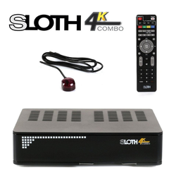 Opticum Red Sloth HD 4K Combo SAT-Receiver (LAN, PVR Ready, Triple Tuner und IP TV)