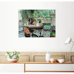 Posterlounge Wandbild, La Grenouillere 130 cm x 100 cm
