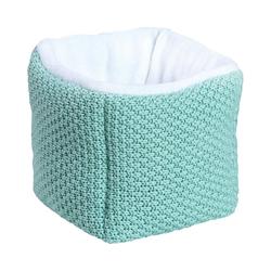 Schardt Aufbewahrungsbox Aufbewahrungsbox aus Strickmaterial, hellgrau/weiß