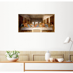 Posterlounge Wandbild, Das Abendmahl 40 cm x 20 cm