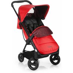 iCoo Kinder-Buggy Acrobat Fishbone Red, mit leichtem und stylischem Aluminiumgestell; Kinderwagen, Buggy, Sportwagen, Sportbuggy, Kinderbuggy, Sport-Kinderwagen