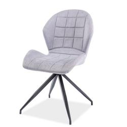 Krzesło tapicerowane Lasel szare podstawa statyw