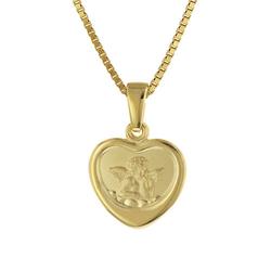 Halskette mit Schutzengel  Gold auf Silber 925 Halsketten gold Gr. one size Mädchen Kinder