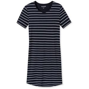Schiesser Nachthemd Damen Nachthemd, 90 cm - 1/2 Arm, Sleepshirt, blau 4XL (XXXX-Large)