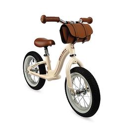 Bikloon Vintage Laufrad Metall Hellbraun mit Lenkertasche beige