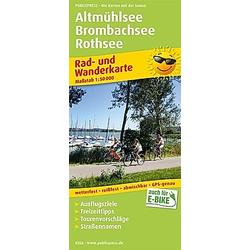 PublicPress Rad- und Wanderkarte Altmühlsee - Brombachsee - Rothsee - Buch