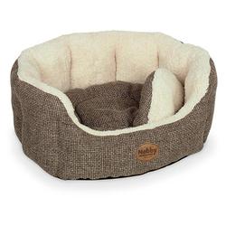 Nobby Hundebett oval Alba braun, Maße: 86 x 70 x 24 cm