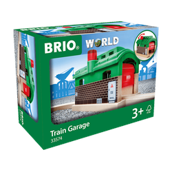 BRIO Lokschuppen mit Rolltor Zubehör für Eisenbahn, Mehrfarbig
