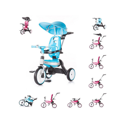 Chipolino Dreirad Tricycle BMW 4 in 1, Dreirad, mit EVA-Reifen, verstellbare Lenkstange blau