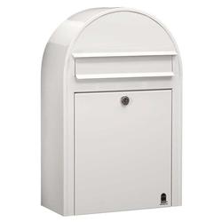 Bobi Briefkasten Bobi Classic S Briefkasten RAL 9016 weiß Wandbriefkasten