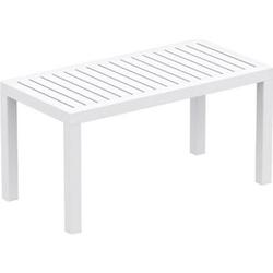 Lounge Tisch OCEAN I Wetterfester Gartentisch aus UV-beständigem Kunststoff I wetterfest und UV-beständig I robuster Gartentisch... weiß