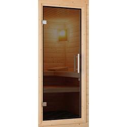 KARIBU Saunatür für 38/40 mm Sauna, BxH: 64x173 cm grau