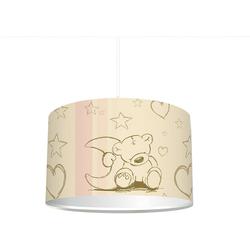 STIKKIPIX Lampenschirm KL02, Stikkipix Kinderzimmer Lampenschirm Teddy, kinderleicht eine beige Teddybär-Lampe erstellen, als Steh- oder Hängeleuchte/Deckenlampe, perfekt für Teddy-begeisterte Mädchen & Jungen