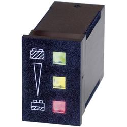 Bauser 824 12V Batteriewächter 824 - 12 V/DC grün: ≥ 12 V, gelb: < 12V ≥ 11 V, rot: < 11V