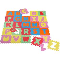 Knorrtoys® Puzzle Alphabet, 26 Puzzleteile, Puzzlematte, Bodenpuzzle bunt