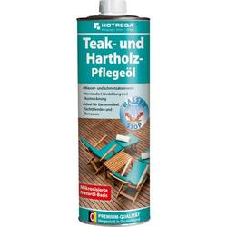 HOTREGA Teak- und Hartholz Pflegeöl 1L - Pflege für Gartenmöbel, Terrassenmöbel
