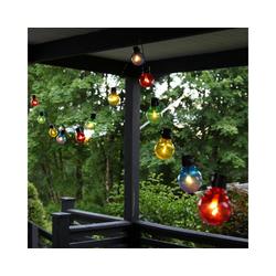 STAR TRADING LED-Lichterkette LED Party Lichterkette 16 bunte beleuchtete Kugeln L: 4,5m Balkon Terrasse