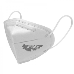 FFP2 Maske 5er Set - weiß - Motiv Taucher