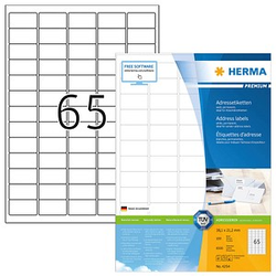 6.500 HERMA Adressetiketten 4254 weiß
