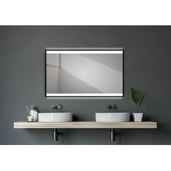 beleuchteter Badspiegel 120x70cm - TALOS BLACK SHINE