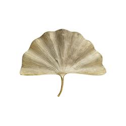 KARE Wanddekoobjekt Wandschmuck Ginkgo Leaf 59cm silberfarben