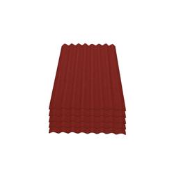 Onduline Wellplatte Onduline Easyline Dachplatte Wandplatte Bitumenwellplatten Wellplatte 5x0,76m² - rot, Wellig, 3.8 m² pro Paket, (5-St)