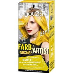 Schwarzkopf Got2b Farb Artist Haarfarbe 107 Neon Gelb 80ml