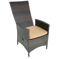 Garden Pleasure Levante Sessel 62 x 59 x 110 cm coffee