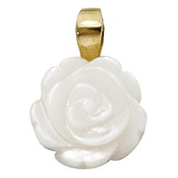 JOBO Blumenanhänger Rose, 333 Gold mit Perlmutt