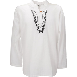 Guru-Shop Hemd & Shirt Yoga Hemd bestickt, Goa Shirt, besticktes.. XXL