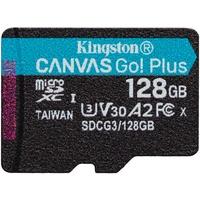 Kingston microSDXC Canvas Go! Plus 128GB Class 10 UHS-I A2 V30