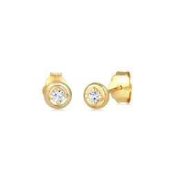 Elli Paar Ohrstecker Stecker Elegant Brilliant Tobas 375 Gelbgold