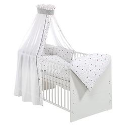 Kinderbett CLASSIC LINE WEIß komplett, weiß, 70 x 140 cm, Sternchen rot