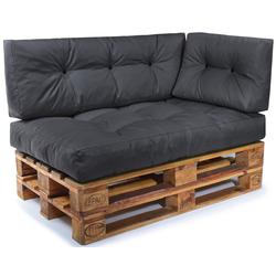 Easysitz Sitzkissen Palettenkissen Set 3, 120 x 80 cm für Europaletten grau