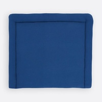 KraftKids Wickelauflage Musselin blau, Wickelunterlage 85x75 cm (BxT), Wickelkissen