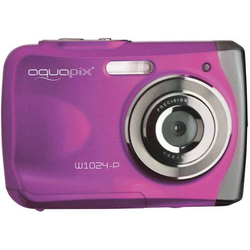 Easypix W1024-I Splash Digitalkamera 16 Megapixel Pink Unterwasserkamera