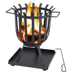 Tepro Feuerkorb Brentwood, ØxH: 36x45 cm schwarz Feuerstellen Feuerkörbe Garten Balkon