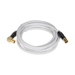 GEORGES Antennenkabel weiß 90° gewinkelt (sbr) SAT-Kabel