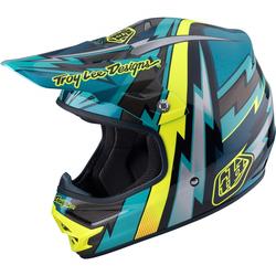 Troy Lee Designs AIR Light Beams Green MX Helm