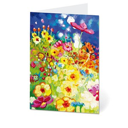 LUMA Grußkarte Blumenwiese DIN B6