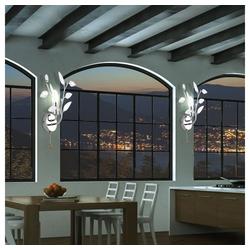 etc-shop LED Wandleuchte, LED Wandlampe Wandleuchte Leselampe Flurbeleuchtung Chrom Vida 63160-1W+LED