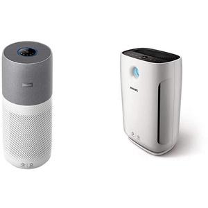 Philips AC4236/10 Luftreiniger Conncted 4000I (für Allergiker und Raucher, bis zu 130M2, Cadr 500M3/H) Weiß/Grau & AC2887/10 Luftreiniger (für Allergiker, bis zu 79m2, CADR 333m3/h) weiß