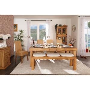 Massivholz Esstisch - Mexico Möbel - Pinie - ausziehbar - verlängerbar - mit Ansteckplatten - 200x100