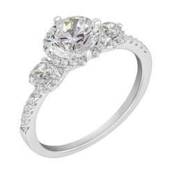 Goldener Verlobungsring mit Diamanten Wirk