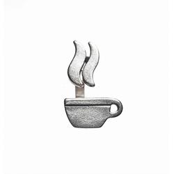Ring Tasse Kaffee. 925 Silber