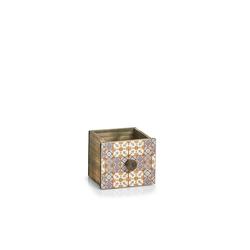 HTI-Living Holzkiste Schubladenbox Holz Mosaik, Schubladenbox 13.5 cm x 11.5 cm