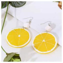 Eyecatcher Ohrring-Set Zitronen-Ohrringe mit Zuckerwürfeln. Ohrhacken