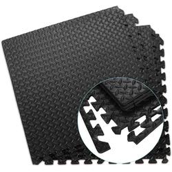 COSTWAY Bodenschutzmatte Schutzmatte, 12 Stück, Bodenschutzmatte je 60x60x1,2cm, Puzzlematte aus Eva
