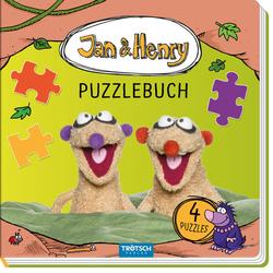 Trötsch Jan und Henry Puzzlebuch mit 4 Puzzle: Buch von